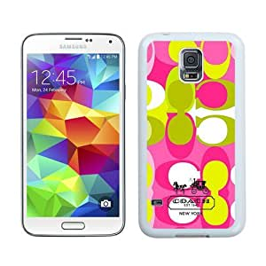 High Quality Samsung Galaxy S5 I9600 Case ,Cool And Fantastic Designed Case With Coach 7 White Samsung Galaxy S5 I9600 Cover