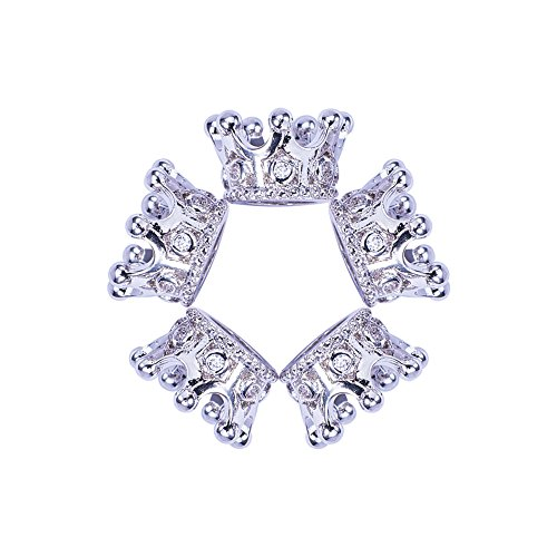 - NBEADS 10pcs Platinum Color Cubic Zirconia Pave King Crown Beads, Bracelet Connector Spacer Charm Beads Large Hole Loose Beads for Bracelet Necklace DIY Jewelry Making