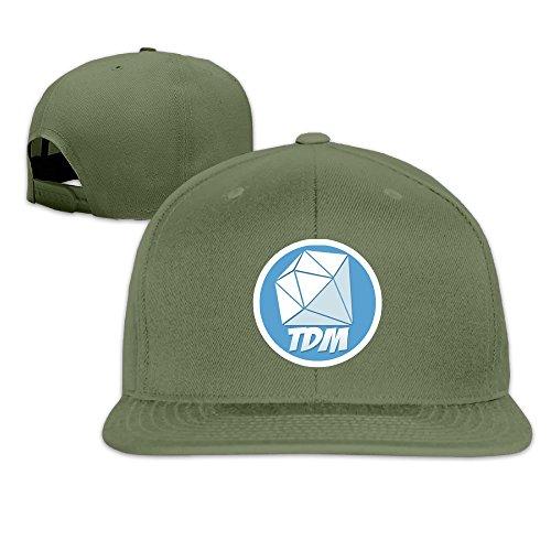 0b7677eb2364c Unisex Dan TDM Diamond Logo Cotton Baseball Cap Hip Hop Flat Hats