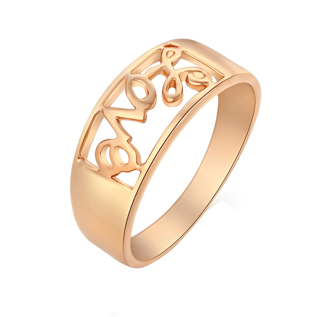 YAZILIND Simple Cool Design 18K Gold Plated Ring Band for Women's Dating Present Size 6.5 YAZILIND JEWELRY LIMITED 1076R0366