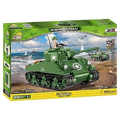 COBI Small Army WW-Sherman M4A1 Tank Building Kit: Toys & Games