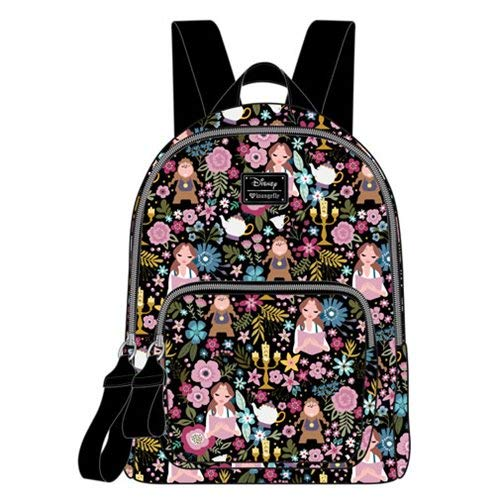Loungefly Beauty and The Beast Satin Mini Backpack