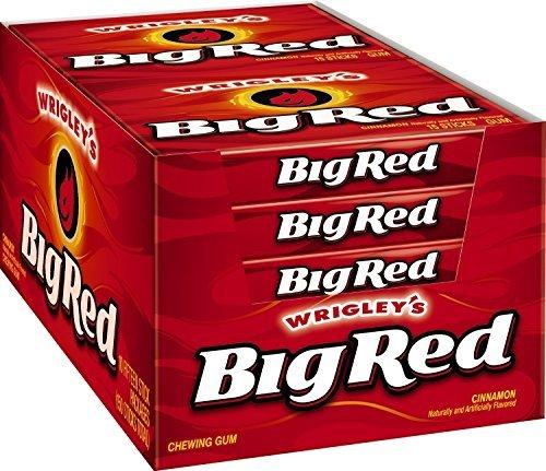 (Big Red Cinnamon Chewing Gum Slim Pack x10 Packs Full Box by Wrigley's)