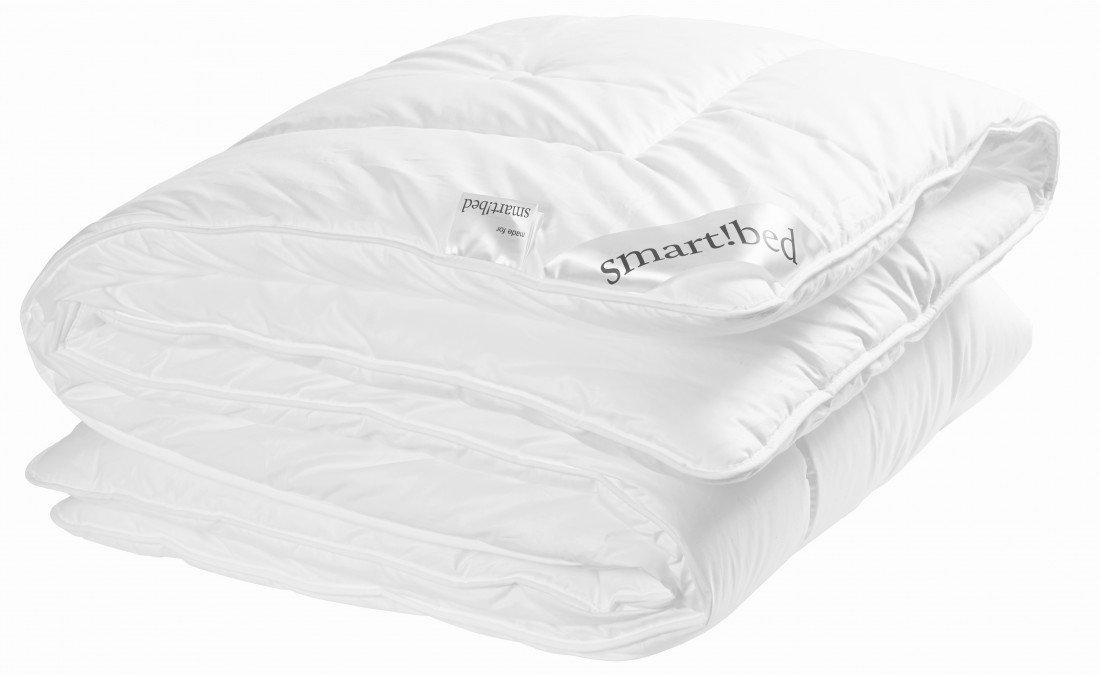 Duo-Steppbett Größe 135 x 200cm von smart bed 1000g - Baumwollbezug - waschbar bis 60° - für Allergiker - das Winterbett