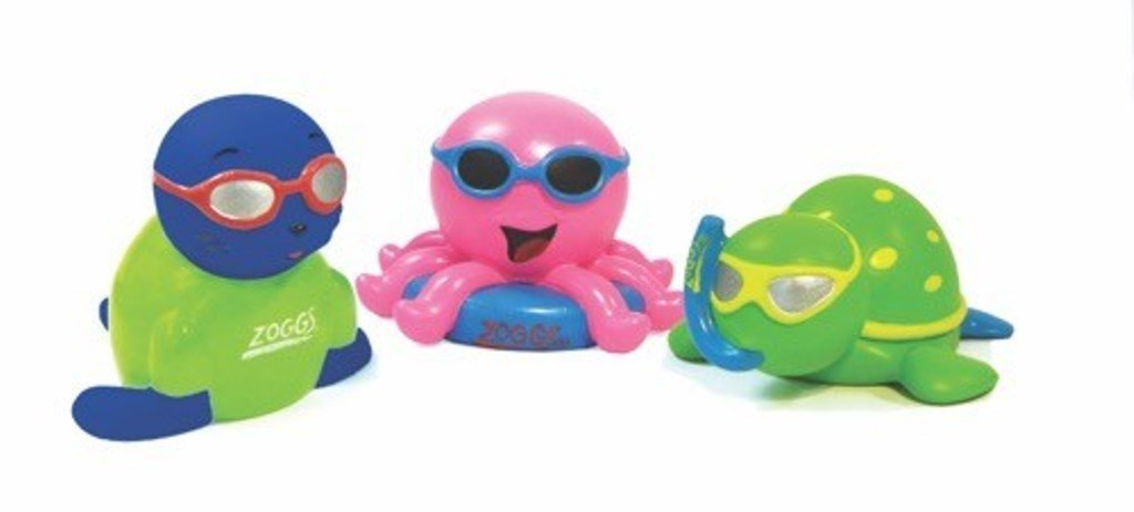 Zoggs Kids Swimming Fun Play Multicoloured Little Squirts Character Toy Set Of 4