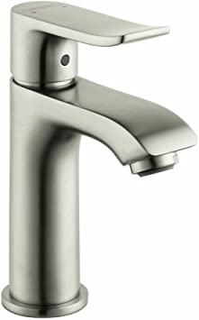 Hansgrohe Metris Modern Upgrade Easy Install 1 Handle 1 6 Inch Tall Bathroom Sink Faucet In Brushed Nickel 31088821 Bathroom Sink Faucets Amazon Com