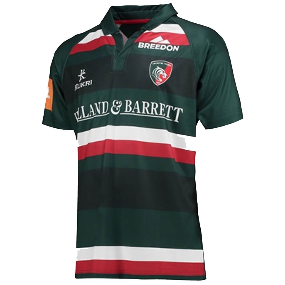 2017-2018 Leicester Tigers Home Rugby Shirt (Kids) B076CFD25BGreen XL Boys