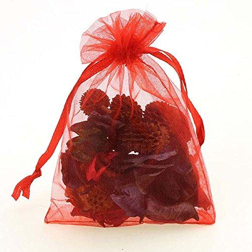KiwiBrand Christmas Gift Bag 9x12 cm 100pcs/lot Wholesale Organza Bags Wedding Pouches Jewelry Packaging Bags Nice Gift Bag Mix Colors DropShip (Gift Dropship)