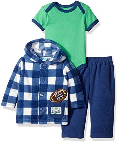 3920d839847 BON BEBE Boys' 3 Piece Microfleece Jacket Set with Bodysuit and Pant ...