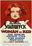 Vintage Movie Advertisement Reproduction Giclee Poster; BARBARA STANWICK in