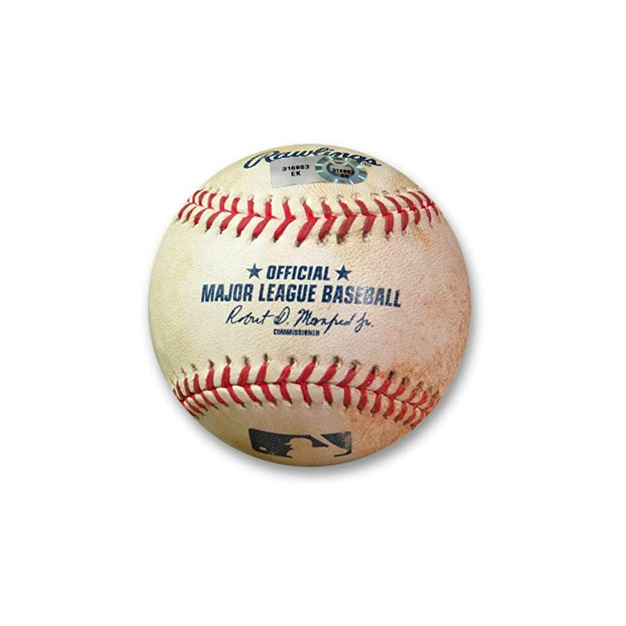 Clayton Kershaw Game Used Baseball 6/17/15 Pitch to Gallo Dodgers EK316983 MLB Autographed Game Used Bases