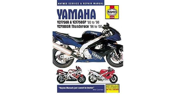 yamaha yzf750r, yzf750sp & yzf1000r, '93-'00 (haynes powersport): haynes  publishing: 9781785213090: amazon com: books