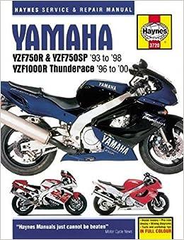 yamaha yzf750r, yzf750sp & yzf1000r, '93-'00 (haynes powersport) paperback  – may 1, 2018