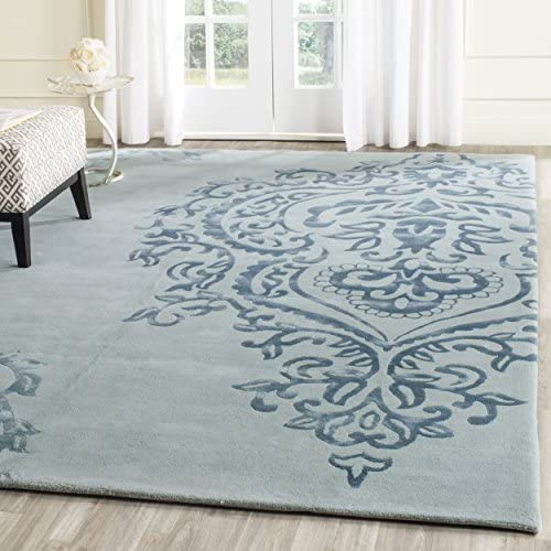 Safavieh Issac Mizrahi Collection IMR720C Handmade Ivory and Blue Premium Wool Area Rug 8 x 10