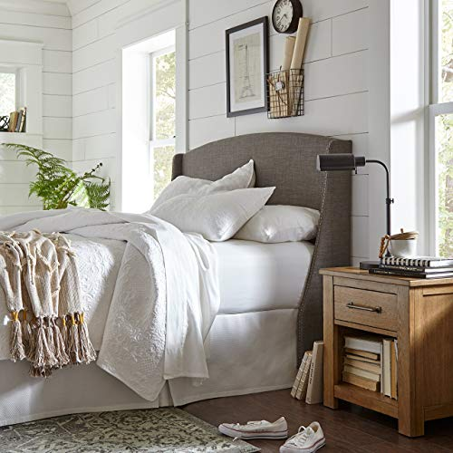 (Stone & Beam Vintage-Inspired Floral Embroidery King Coverlet Set, Soft and Easy Care, 102