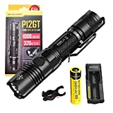 Bundle: Nitecore P12GT CREE XP-L HI V3 LED 1000 Lumens Flashlight With NL186 18650 Rechargeable Battery+Nitecore UM10 Li-ion Battery Charger+Skyben Bicycle Mount Holder Clip