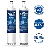 AQUACREST 4396508 NSF 53&42 Refrigerator Water Filter Replacement for Whirlpool 4396508 4396510 EDR5RXD1, EveryDrop Filter 5, Kenmore 46-9010, PUR W10186668, NLC240V (Pack of 2)