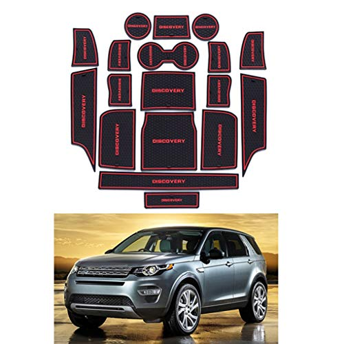 qotone 18pcs/Set Gate Groove Pad Car Interior Door Non-Slip Mat Replacement for Land Rover Discovery 2015 High Configuration