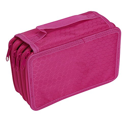 Oksale® 4 Layer Canvas Zipper Pencil Case Office Stationery School Sketch Pen Bag (Hot - Is Justice Victoria Hot