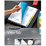 Wilson Jones View-Tab Transparent Dividers, 8 Round Tabs, Letter Size, Multi-Color (W55063)