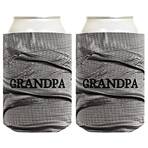 Father's Day Gift for Grandpa or Dad Funny Duct Tape Pattern 2 Pack Can Coolie Drink Coolers Coolies Duct Tape