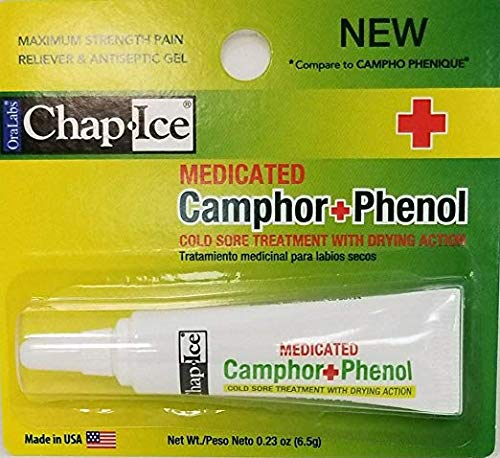 Oralabs Chap Ice Medicated Camphor Phenol Cold Sore Treatment (Cold Sore In Corner Of Mouth Treatment)