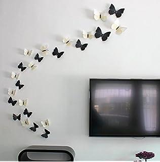 Syga U00273D Butterflyu0027 Wall Sticker (PVC Vinyl, 61 Cm X 5 Cm