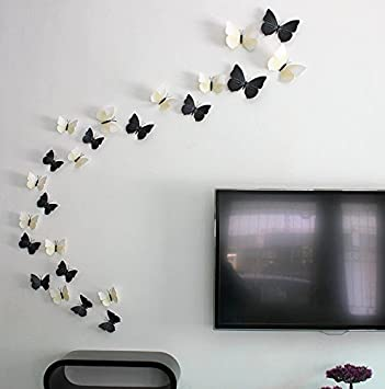 Buy Syga D Butterfly Wall Sticker PVC Vinyl Cm X Cm X - Butterfly wall decals 3d