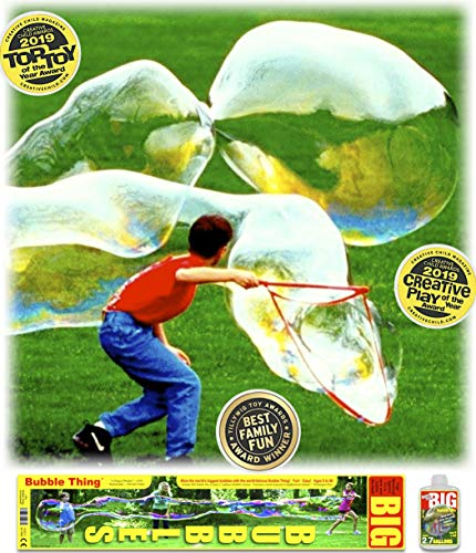 Bubble Thing Giant BIG BUBBLES Wand and Mix. Bubbles Biggest By Far (See Our Videos). 2019 TOP TOY (Backyard Bubble)