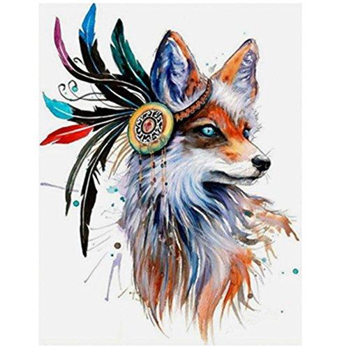 UEB DIY 5D Diamond Embroidery Painting Fox Cross Stitch Craf