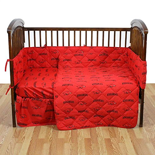 College Covers Arkansas 5 Pc Baby Crib Logo Bedding Set ()