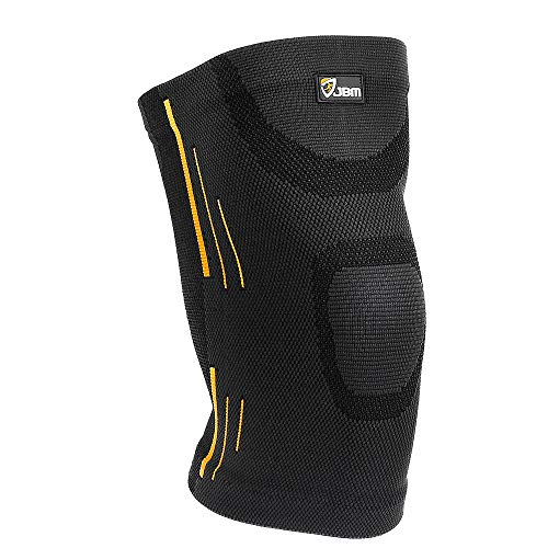 JBM Adult Gym Knee Braces Support Compression Sleeve Patella Wrap Band Knee Stabilizer Safe Pain Relief for Weightlifting Power Lifting Fitness Exercise Basketball Badminton Running Climbing Cycling