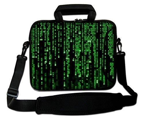 "Ektor - Funda blanda tipo bolsa para portátil de 10-17,6"" con correa de hombro - Matrix Code"
