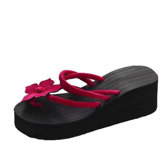 Yesmile Sandalias para Mujer Zapatos Casual de Mujer Sandalias de Verano para Fiesta y Boda Zapatos Antideslizante de Plataforma Sandalias de Flores de Ocio ...