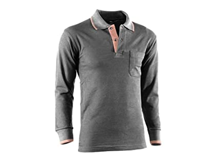 POLO PIQUE MANGA LARGA FLEX NEGRO/MARRON 691/XL: Amazon.es ...