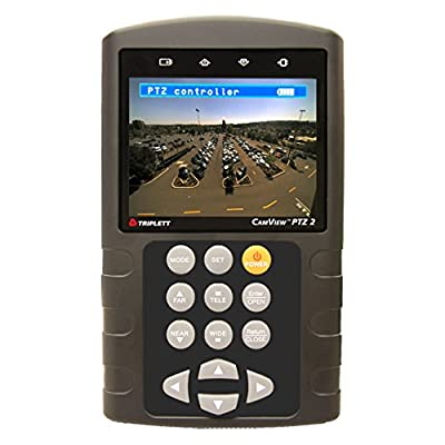 Triplett CamView 8001 Surveillance Camera Multi-Function Tester with PTZ Controller and 3.5-inch Color LCD