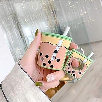 Amazon Com Milk Tea Airpods Case Cute Airpods Case Apple