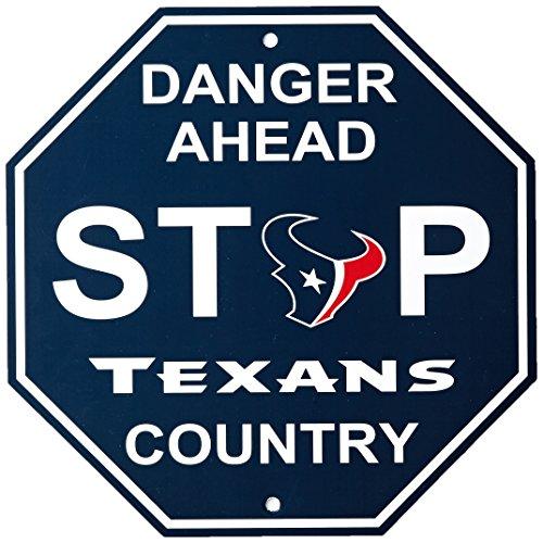 "NFL Houston Texans Stop Sign, 12"" x 12"