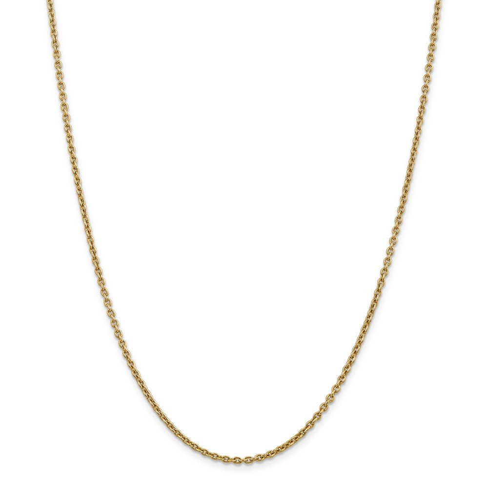 Top 10 Jewelry Gift 14k 2.2mm Solid Polished Cable Chain Anklet