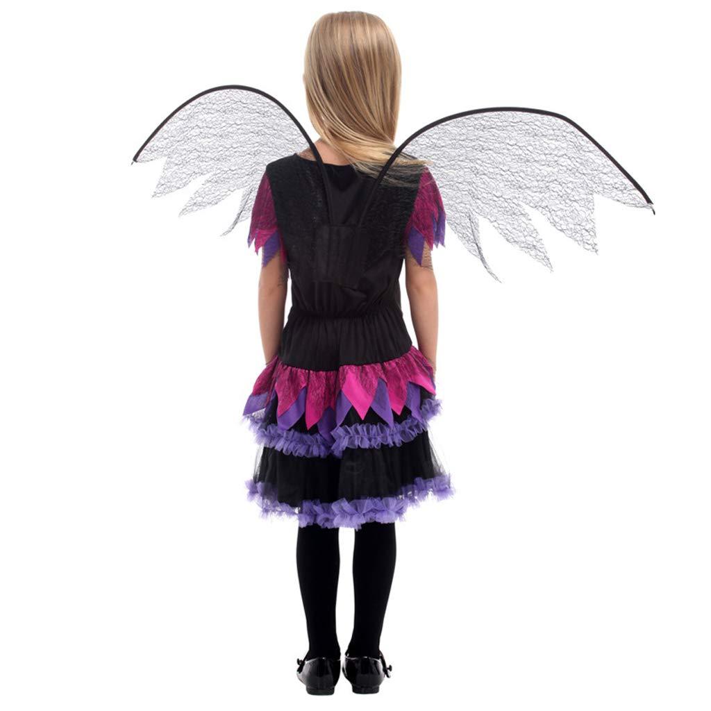 YTSLJ Disfraz De Ángel Negro De Halloween, Disfraz De Disfraz De ...