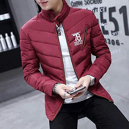 Quilted Sleeve Boy Men's Laisla Jacket Down Thick Parka Rot Long Collar fashion Winter Jacket Quilted Warm Coat Clásico Light Coat Stand Jacket Short Z4qPS1w
