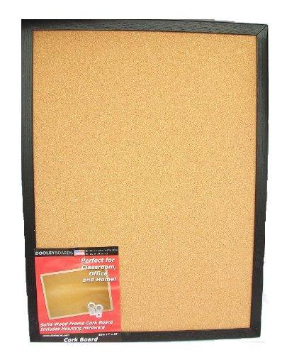 Dooley Boards Black Framed Cork Board, 17 x 23 Inch, Black (1824COBL)