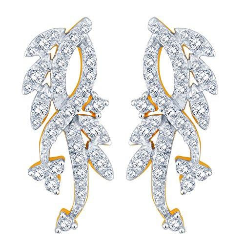 Giantti Diamant pendant matelassé pour femme Boucles d'oreilles (0.5246CT, VS Clarté, Gh-colour)