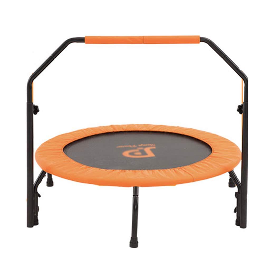 Trampoline Gewichtsverlust Armlehnen Erwachsenes Fitness 100 kg tragen (Farbe : Orange, Größe : 101.6  101.6  122cm)