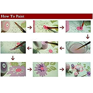 Diy Oil Painting, Paint by Number Kit for Kids, Students, Adults Beginner-16 by 20-Inch (Frameless, Deer)