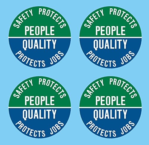 Safety Protects People Quality Protects Jobs Hat Hardhat Decal Sticker Placard 2