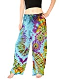 "Orient Trail Women's ""Cold"" Dyed Tie-dye Straight Leg Pajama Dance Yoga Pants"