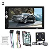 hAohAnwuyg Car Player,1080P HD 7inch Touchscreen Radio Stereo MP4 MP5 Player Support Bluetooth USB 2