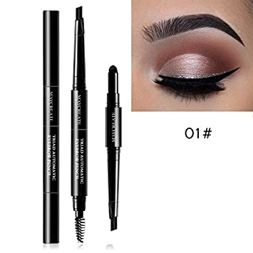 3 In 1 Eye Brows Set For Women Waterproof Brow Pencil + Powder + Brush Pigment
