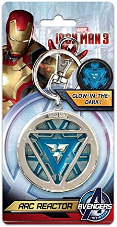 Marvel Comics Captain America Thor Iron Man Avengers Metal Keyring key chain LED
